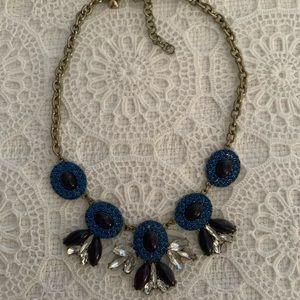 JCrew Blue Stone Fan Necklace